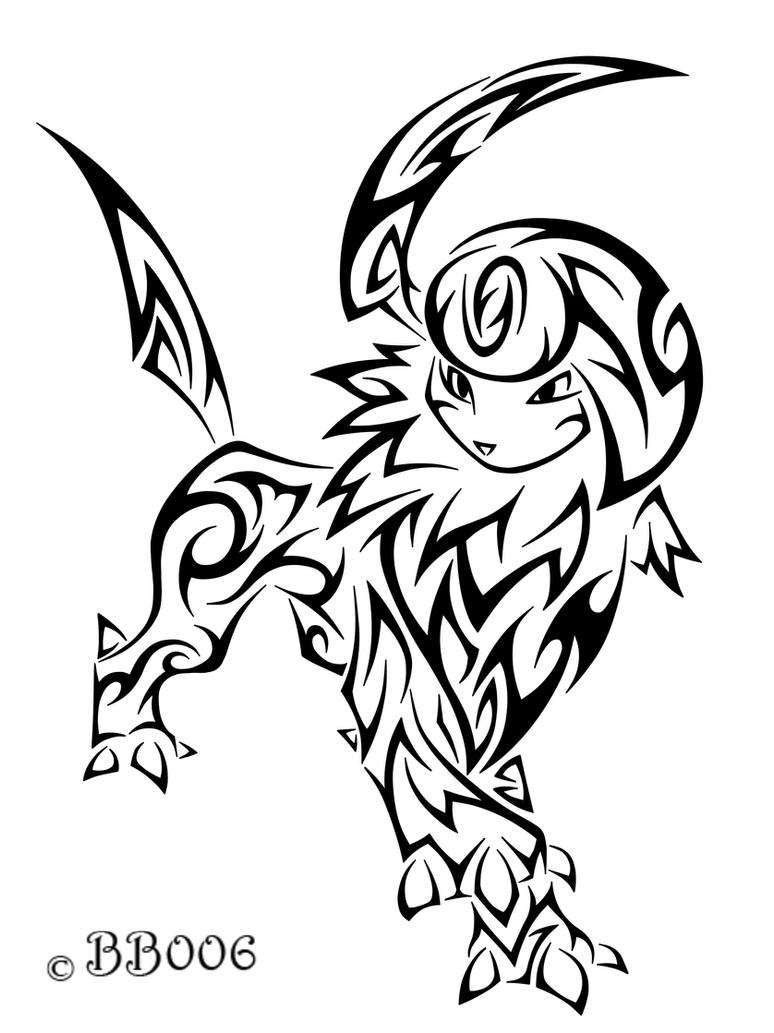Tribal Absol by blackbutterfly006