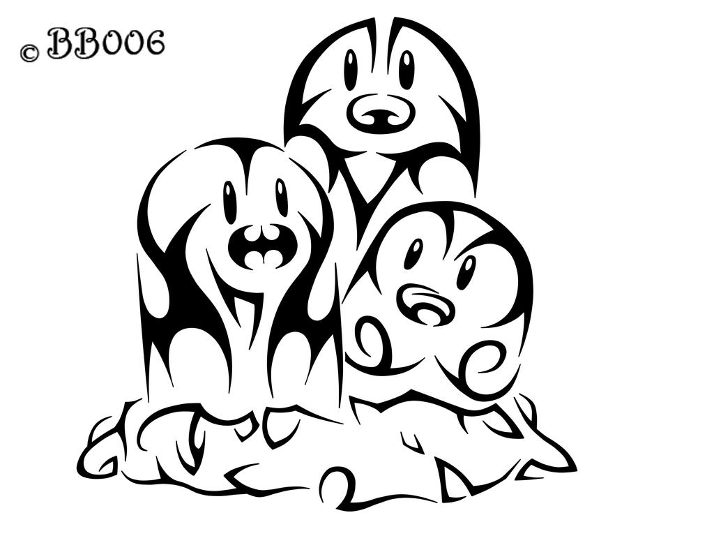 #051: Tribal Dugtrio by blackbutterfly006
