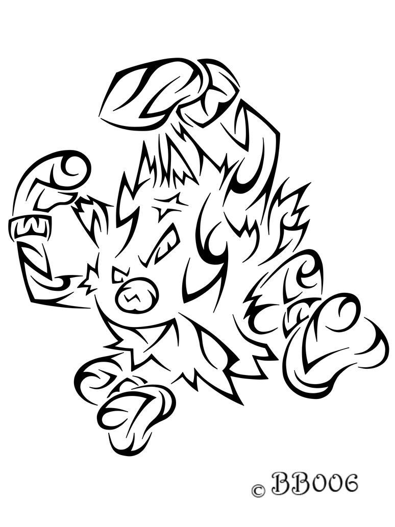 #057: Tribal Primeape by blackbutterfly006