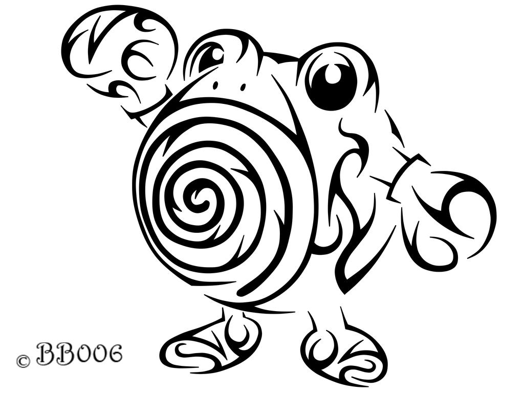 #061: Tribal Poliwhirl by blackbutterfly006