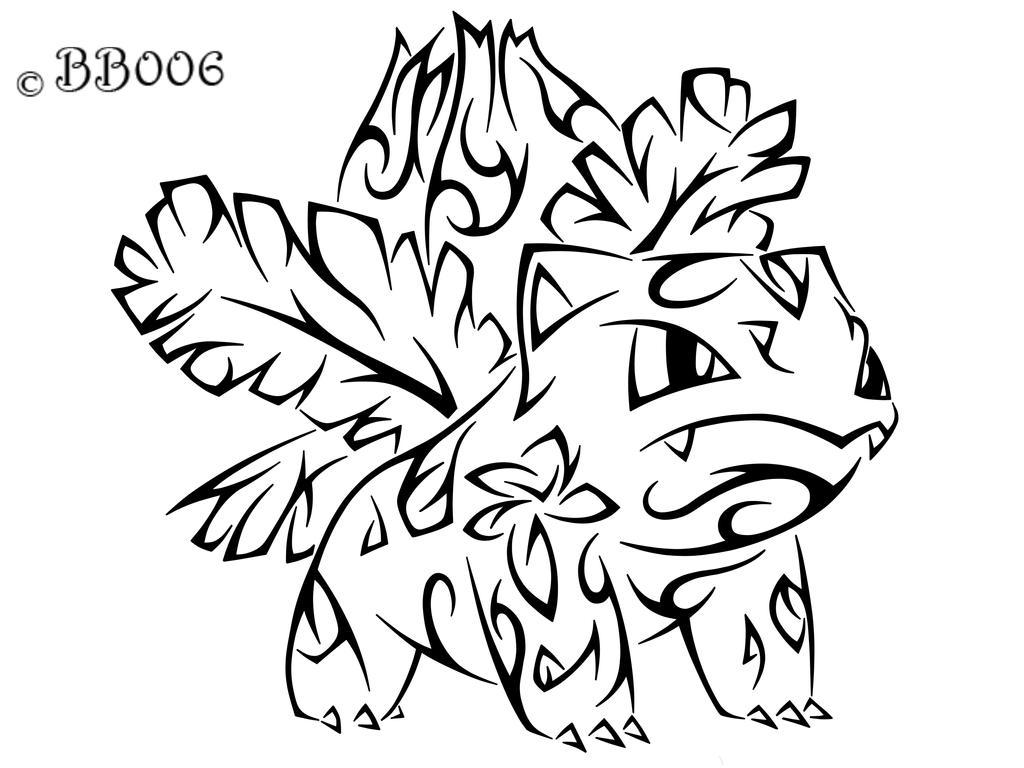 #002: Tribal Ivysaur (Remake) by blackbutterfly006