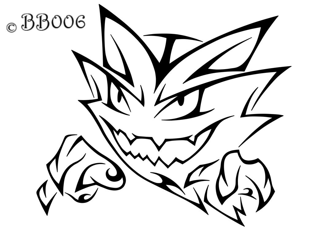 Tribal Haunter  Commission by blackbutterfly006