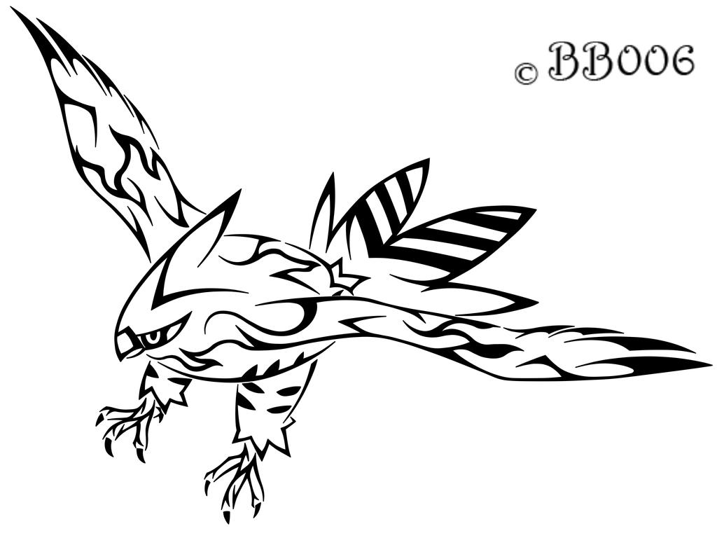 Tribal Talonflame by blackbutterfly006