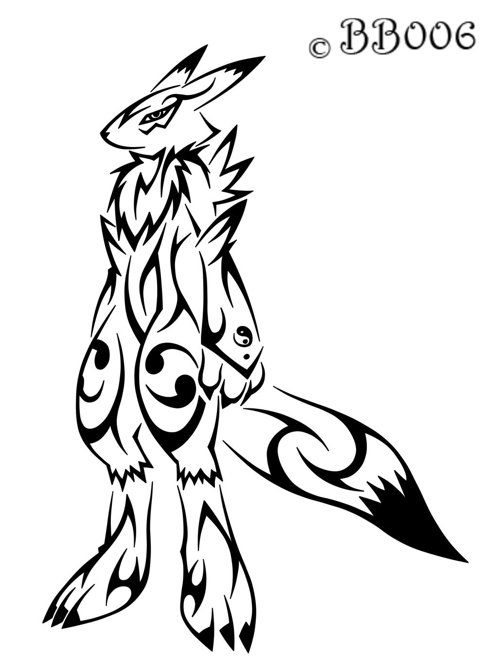 Tribal Renamon by blackbutterfly006
