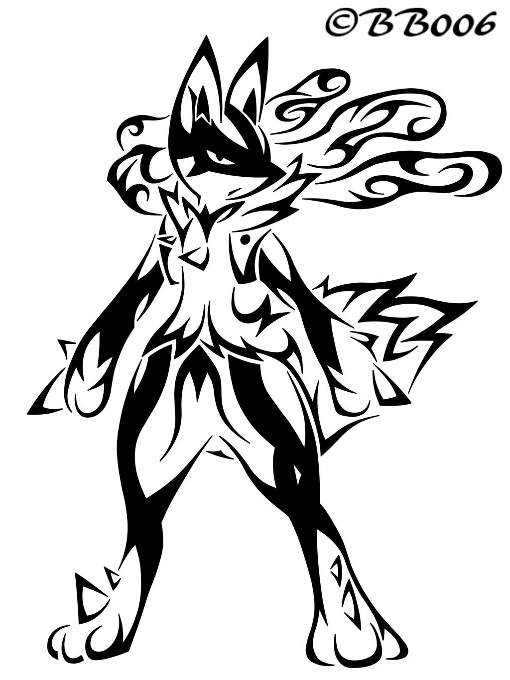 Tribal Mega-Lucario by blackbutterfly006