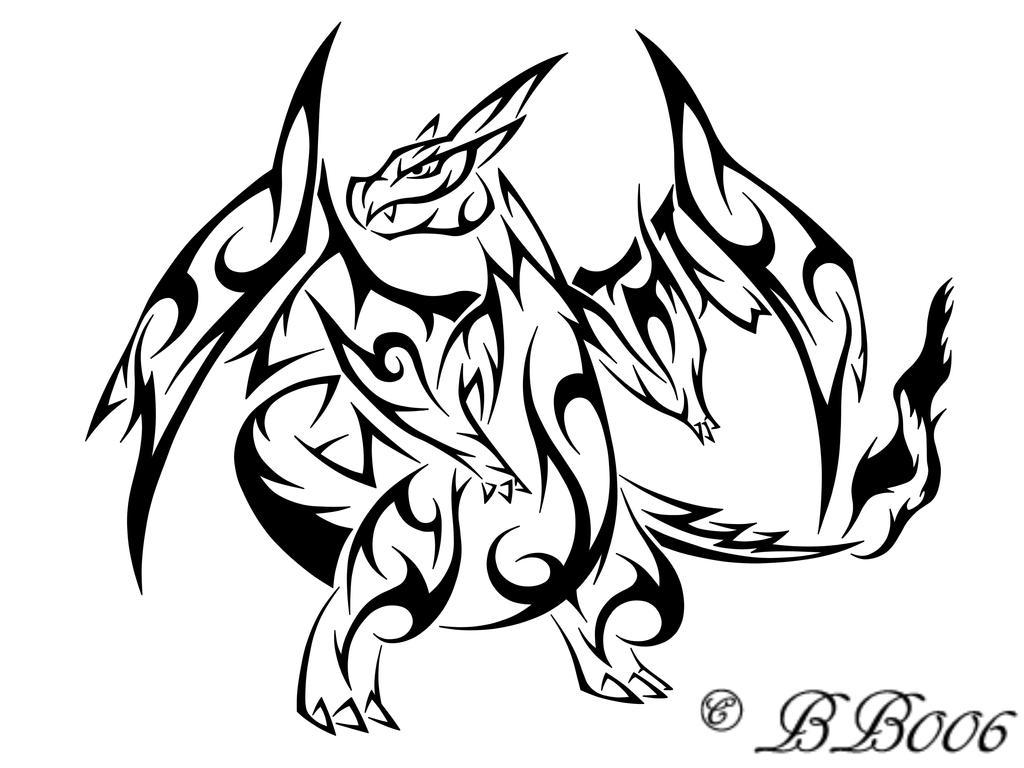 Tribal Mega Charizard by blackbutterfly006