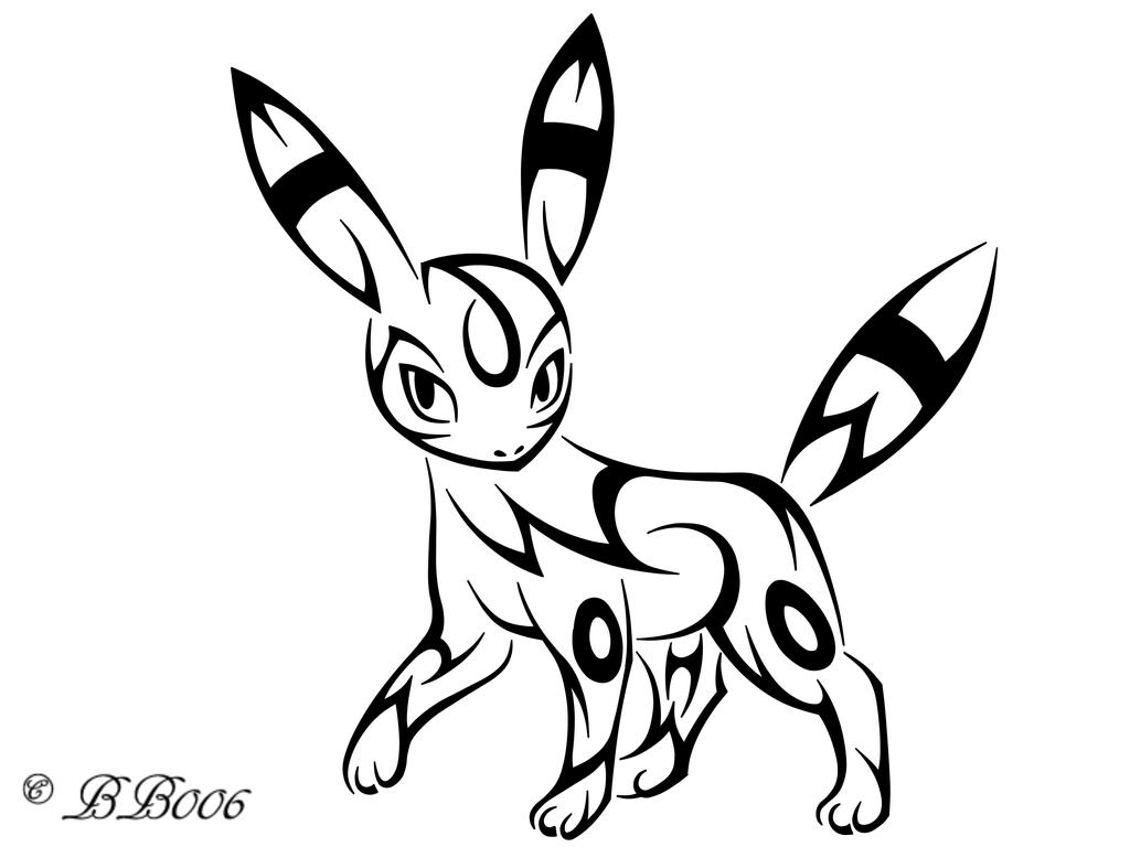 Tribal Umbreon by blackbutterfly006