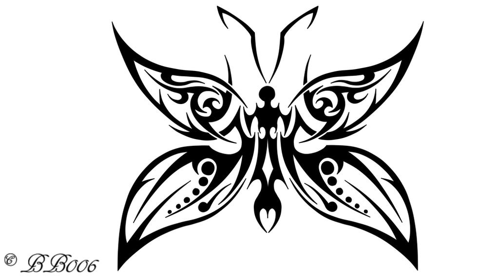 Tribal Butterfly 2 by blackbutterfly006