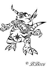Tribal Greymon by blackbutterfly006