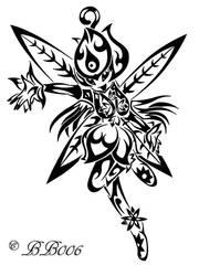 Tribal Lillymon by blackbutterfly006