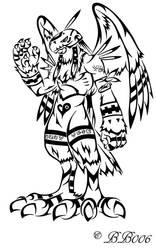 Tribal Garudamon by blackbutterfly006