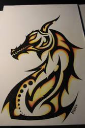 20170115_Tribal Dragon by blackbutterfly006