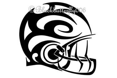 20170205 Tribal Football Helmet.jpeg by blackbutterfly006