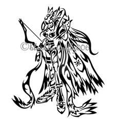 Tribal Angewomon by blackbutterfly006