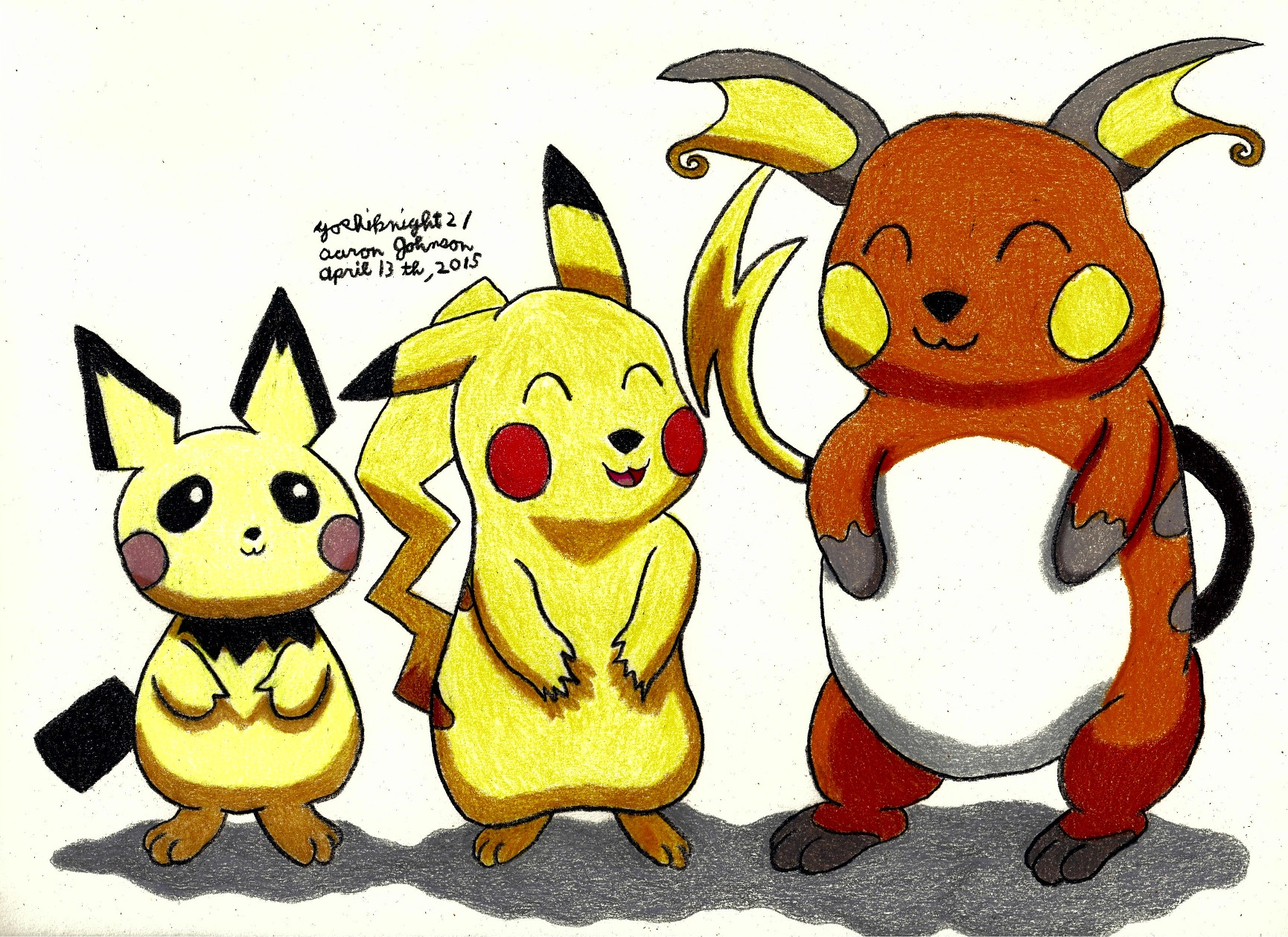 Pichu Pikachu Raichu Pokemon 528450938
