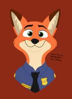 Officer Nick Wilde (Disney) by Yoshiknight2