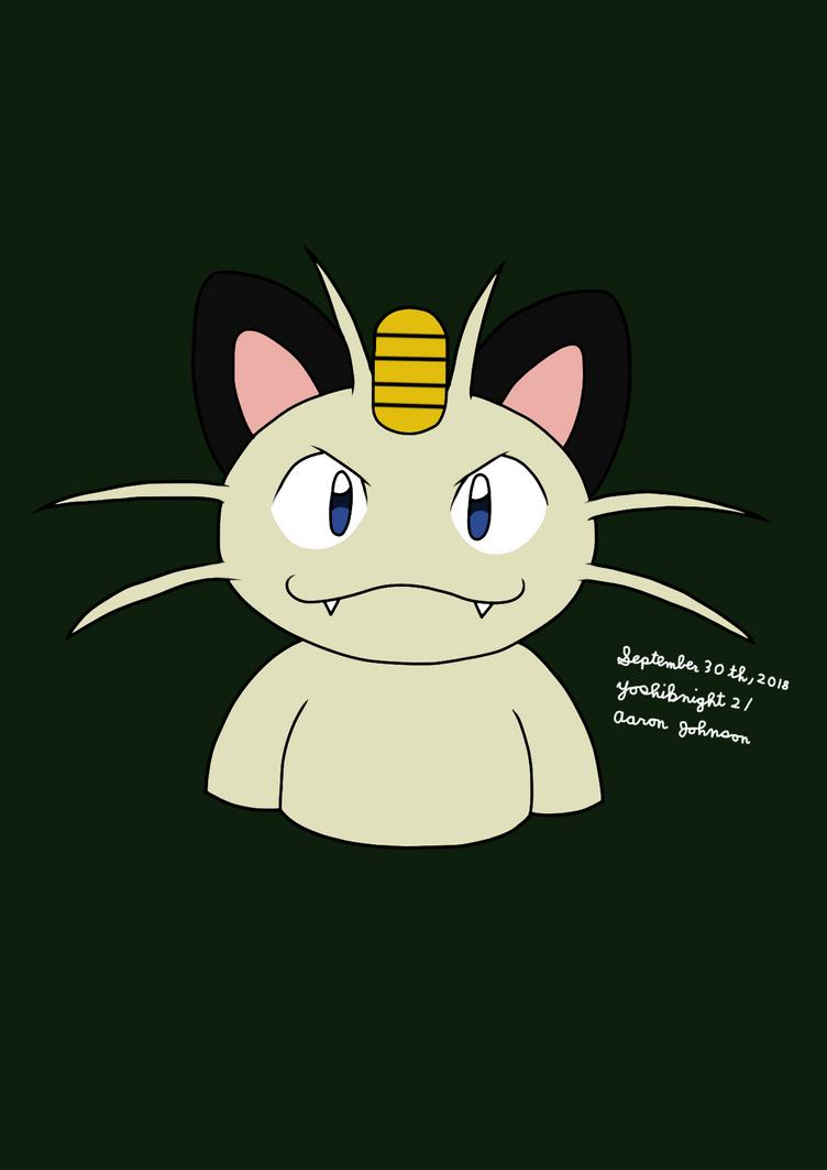 Meowth (Pokemon) by Yoshiknight2