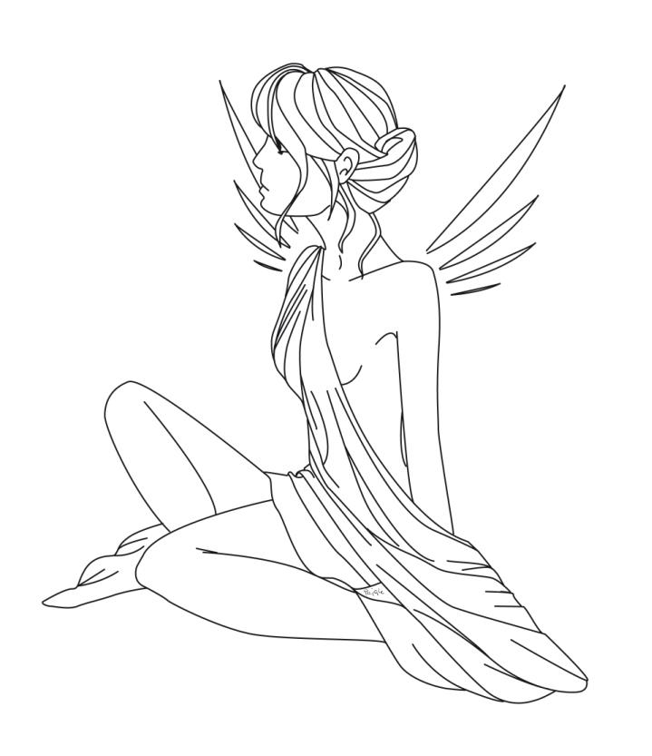 Nude Angel by lifeislikeajoke