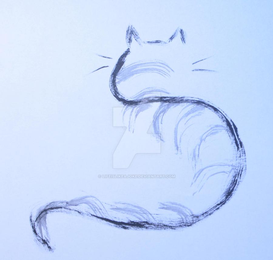 Cat (II) by lifeislikeajoke
