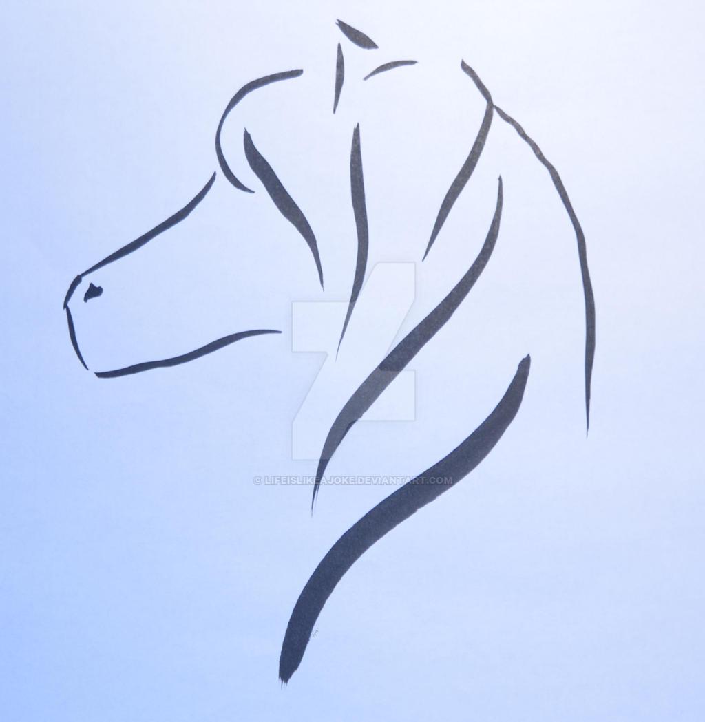 Horse head by lifeislikeajoke