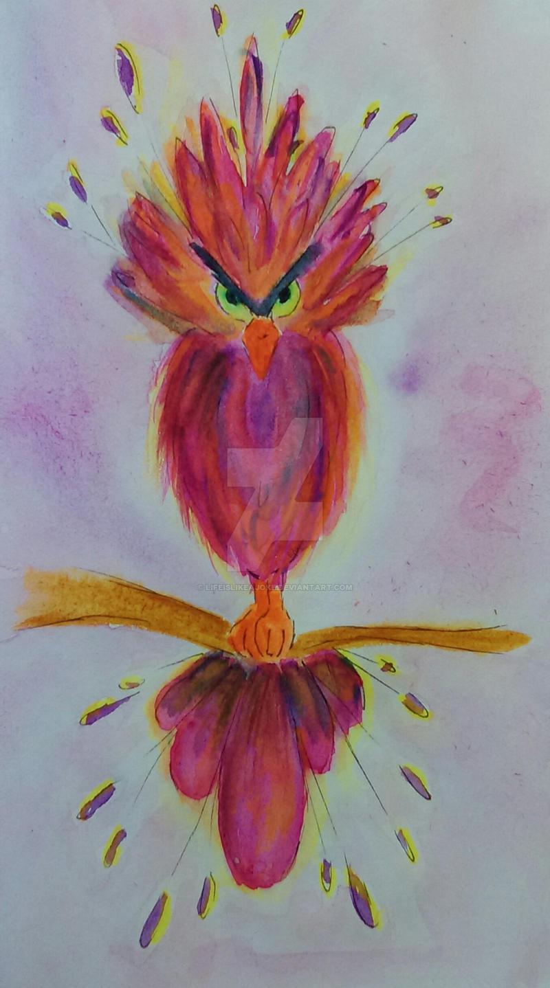 Angry bird by lifeislikeajoke