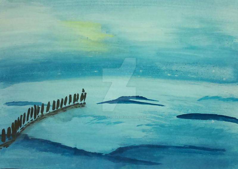 Blue sea by lifeislikeajoke