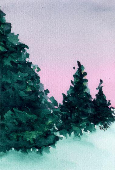 Pine trees (I) by lifeislikeajoke
