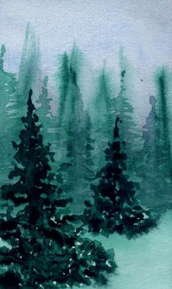Pine trees  (IV) by lifeislikeajoke