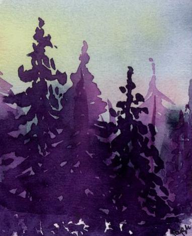 Pine trees  (VII) by lifeislikeajoke