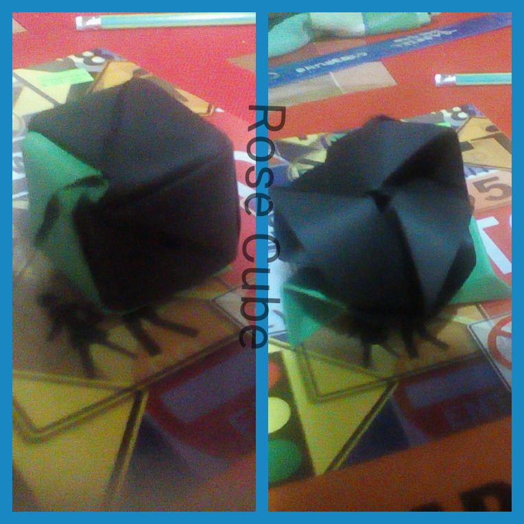 Origami Rose Cube By Cyb3run0 On Deviantart