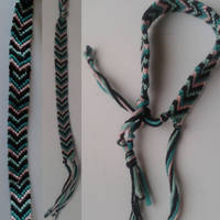 Pink and Green Friendship Bracelet
