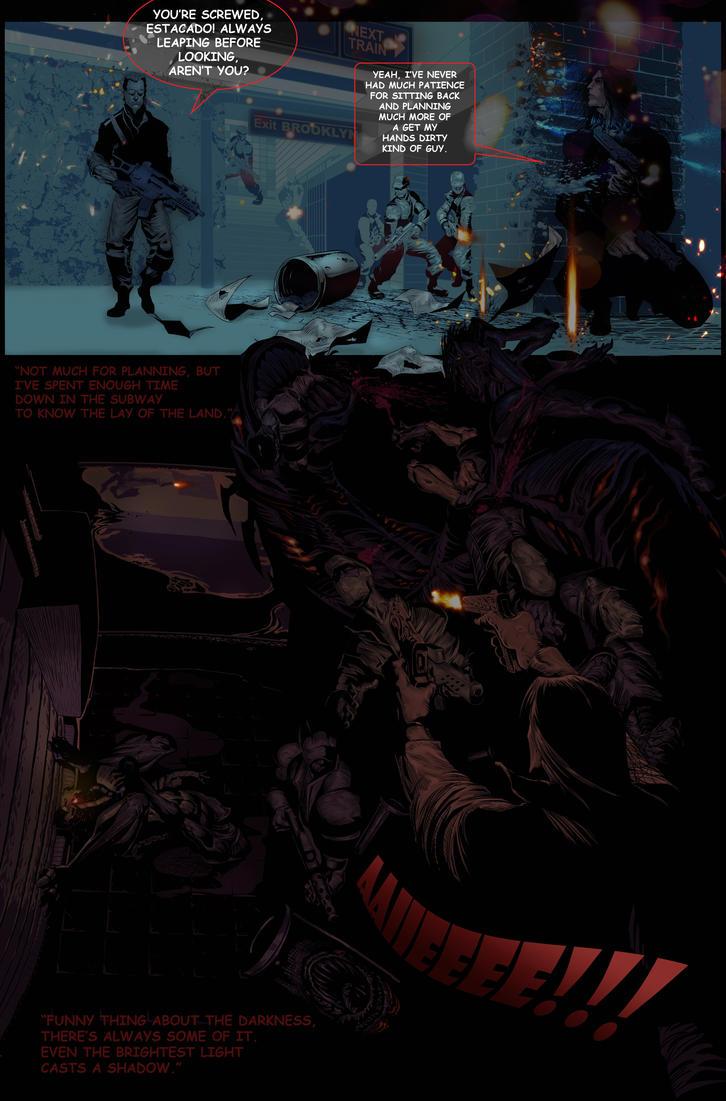 DArkness 2 100th issue panel layout by lancerdrake