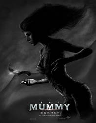 The Mummy Poster grayscale