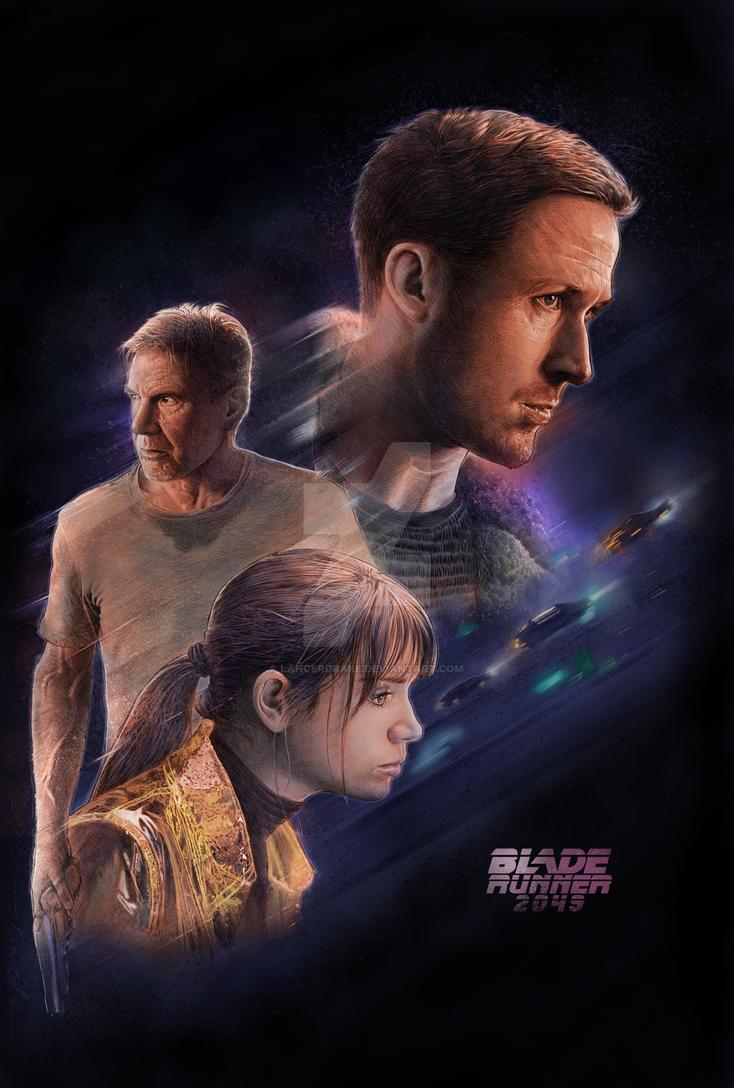Blade Runner 2049 Illustrated 80s style Poster by lancerdrake