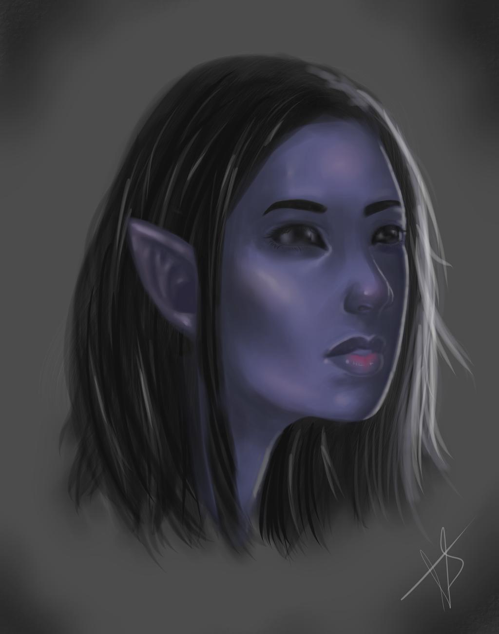 Dark elf by Farefarren
