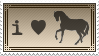 I Love Horses Stamp by OckGal