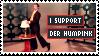 I Support Der Humpink Stamp