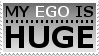 My Ego Is Huge Stamp by OckGal