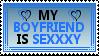 My Boyfriend Is Sexxxy Stamp 1 by OckGal