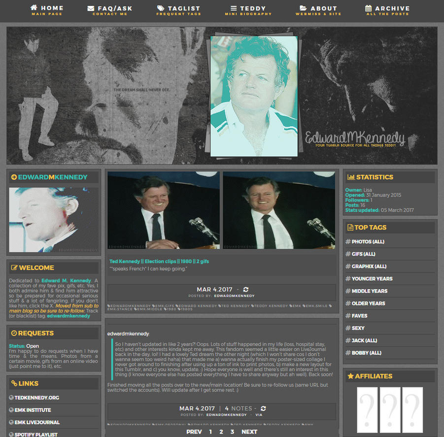 EdwardMKennedy Tumblr Layout 002 by OckGal