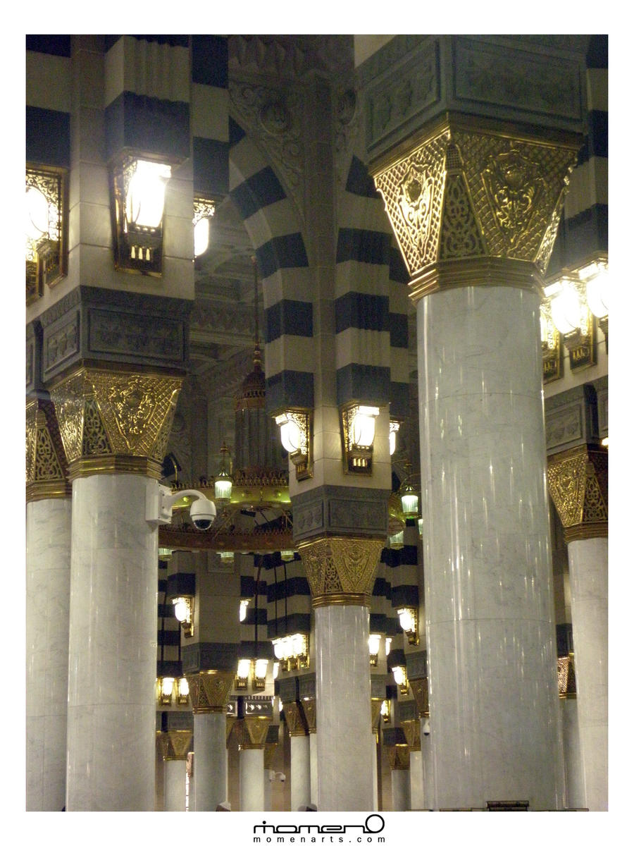 Arches And Columns Inside The Prophets Mosque By Momenarts