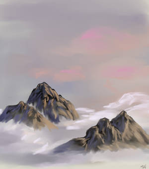 Cloudy Day in the Mountains