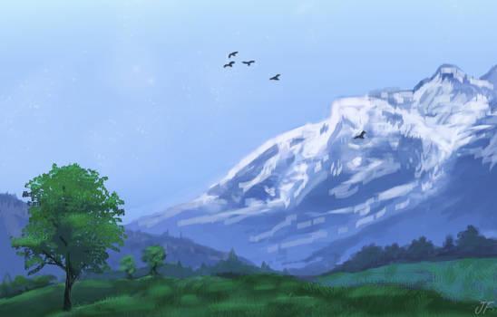 Landscape #1 - Snow Capped Mountains