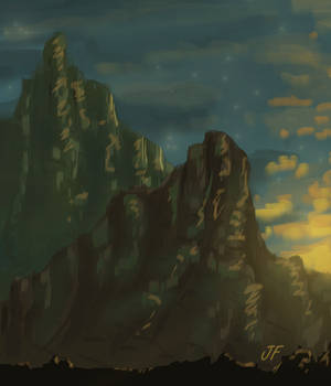 Landscape #2 - Rocky Mountain Sunrise