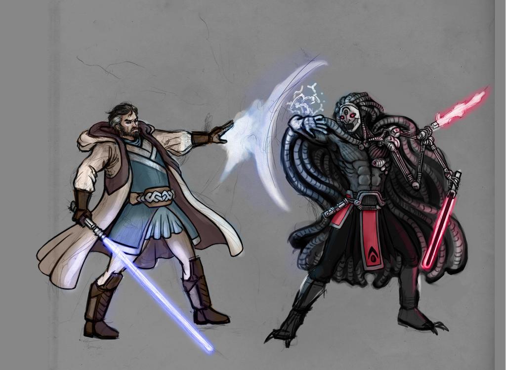 Jedi vs Sith by zenevaydragon973