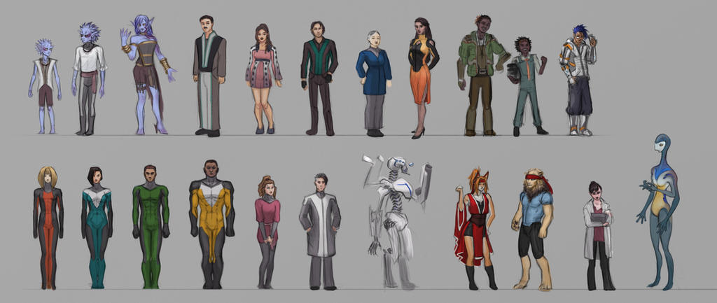 Sci-Fi Character Compilation by zenevaydragon973