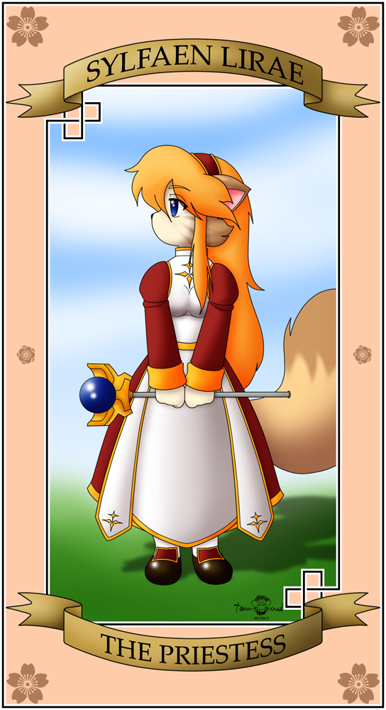 The Priestess Card by Xalmonita