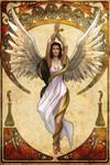 Hygeia. Health Goddess Nouveau