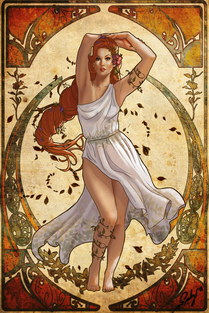 persephone spring and hades goddess nouveau by phoenixnightmare