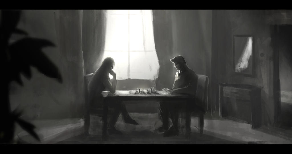 Chess Match, light concept by phoenixnightmare